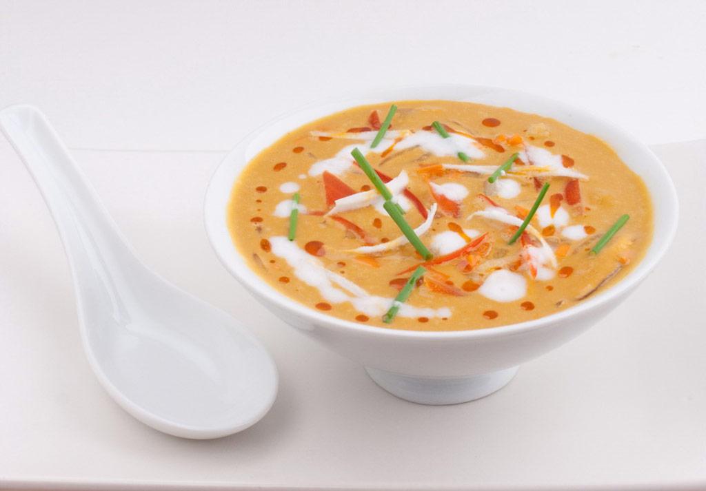 eskorte servert suppe