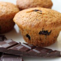 Vanillemuffins med chokoladestykker
