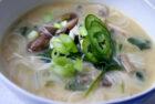 Thaisuppe med kylling og kokosmælk