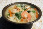 Thaisuppe med nudler og tigerrejer