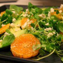 Avocadosalat med clementiner og chili-vinagrette